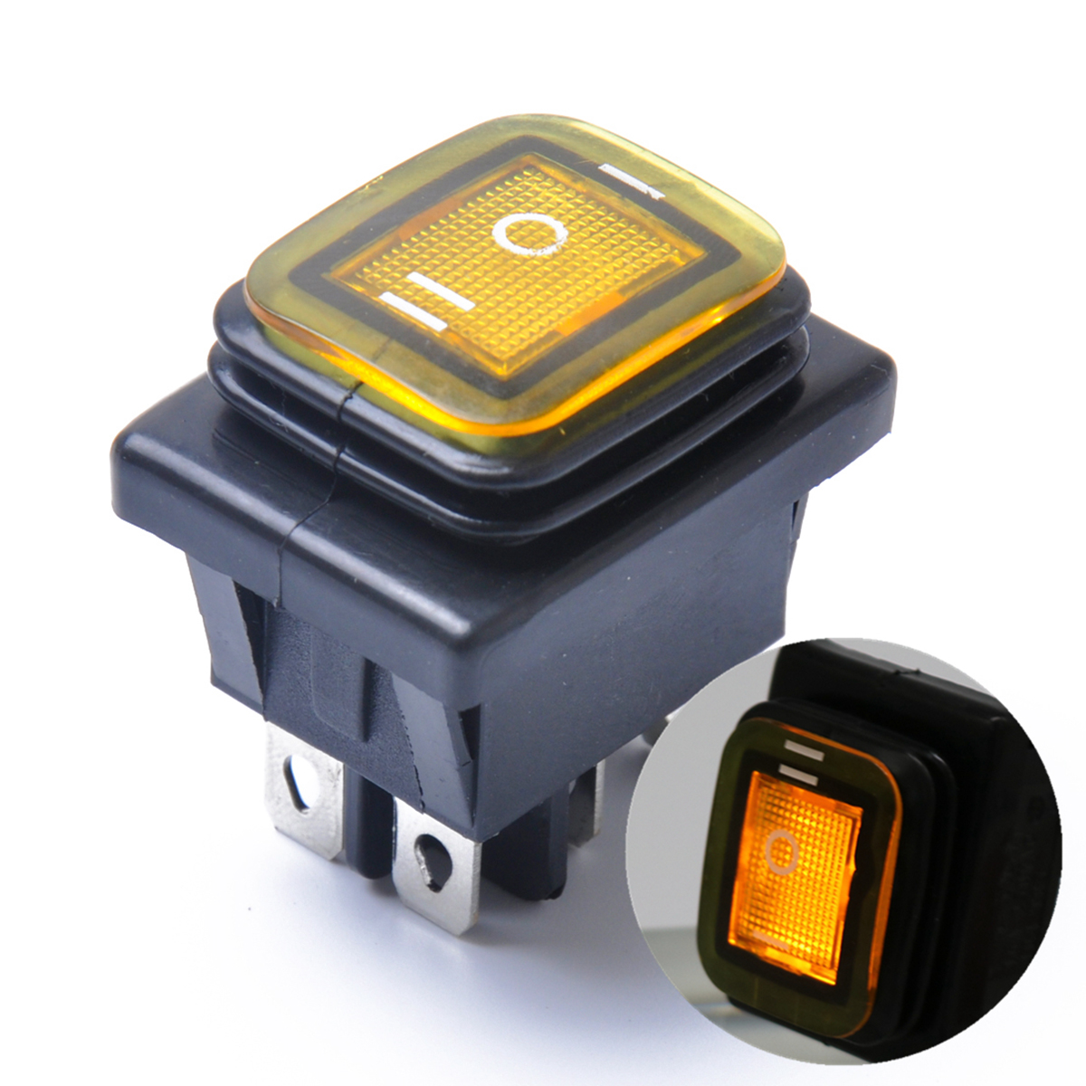 Boat Parts & Accessories Atv,rv,boat & Other Vehicle Rocker Toggle Switch On-off-on 4 Pins 12v Dc Car Boat Automobiles Waterproof Led Latching Switches