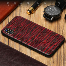 Wangcangli Genuine Leather Phone Case For iPhone X Lizard Texture Back Cover 6 6S 7 8 Plus SE 5 5S Shell