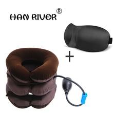 Горячо! Шейный Тяговый аппарат с надувным шейным растяжителем, инструменты для ухода за здоровьем, расслабляющие напряжение, облегчающие усталость, массаж шеи
