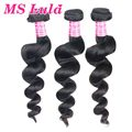 Free shipping unprocessed virgin hair 3pc lot malaysian loose weave could be dyed and bleached well ms lula hair