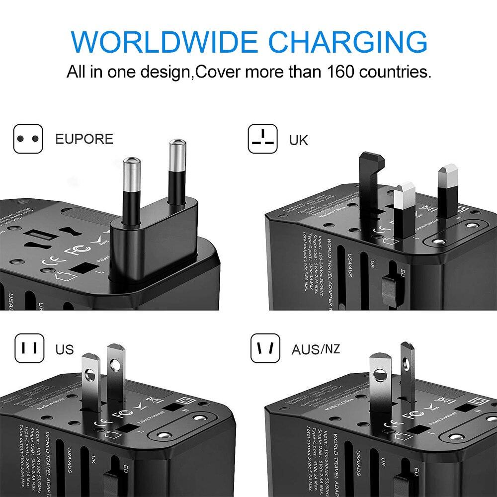 Image 3 - Rdxone adaptador de enchufe adaptador de viaje Universal Cargador/adaptador de corriente para nos UE Reino Unido es pared convertidor de enchufes eléctricosAdaptador de enchufe internacional   -