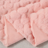 1 Meter Loving Heart Embossed Faux Fur Fabric Fashion Plush Fur Garment Cushion Toy DIY Material