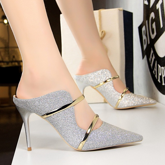 Sexy High Heels Shoes 2018 New Fashion Summer Style Women Platform Pumps For Party Wedding Shoes 4