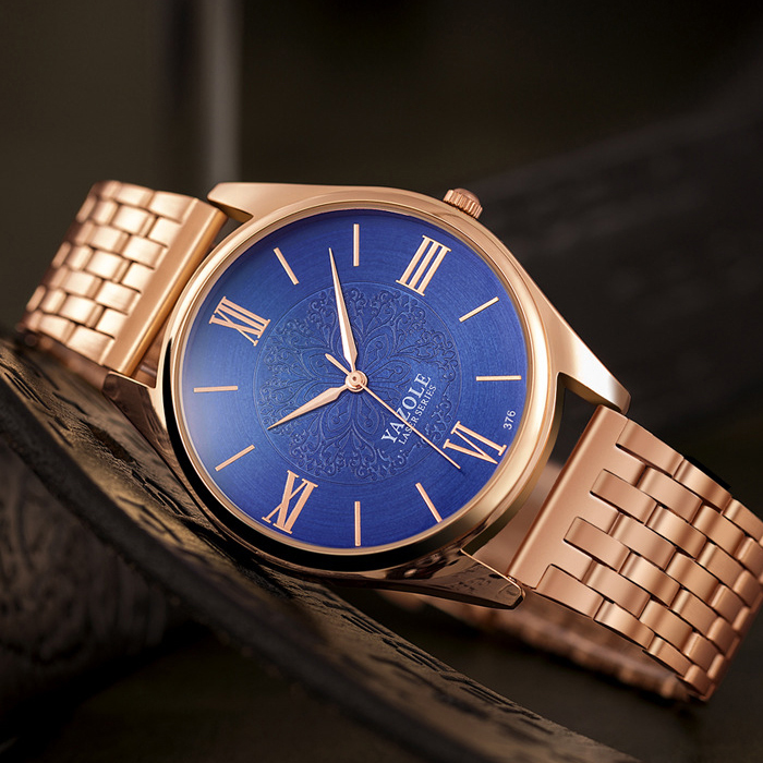 YAZOLE Rose Gold Watch Men Top Brand Luxury Golden Steel Wrist Watches For Men Male Clock Quartz Wristwatch Relogio Masculino цены