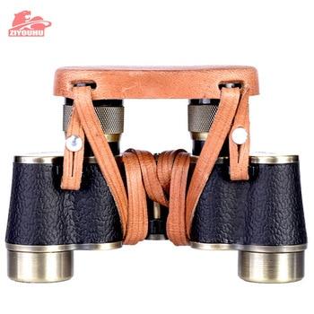 ZIYOUHU Bronze Collection Telescope Zoom Hunting Binoculars High Definition Camp Hiking Night Vision Telescope  6X24