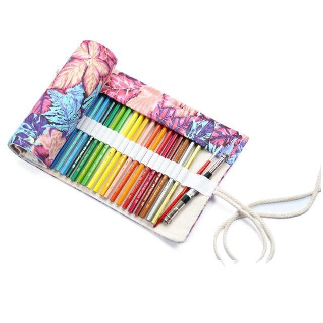 Serbaguna 72 Slot Perjalanan Menggambar Mewarnai Pensil Roll
