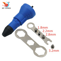 Electric Rivet Nut Gun Riveting Tool Cordless Riveting Drill Adapter Insert Nut Tool Riveting Drill Adapter