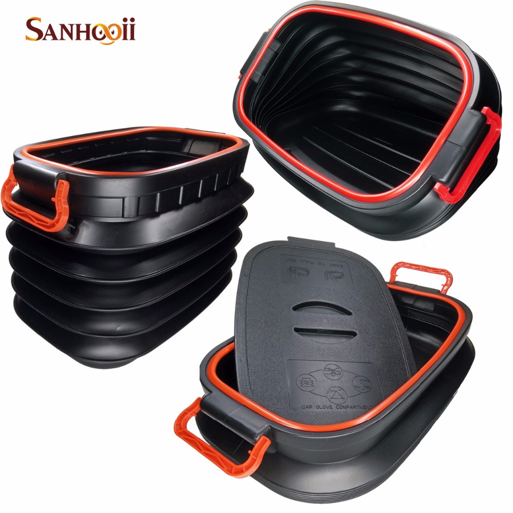 37L Folding Tidying Bucket Storage Tools box Bag Collapsible Rear Auto Trunk Boot Organizer Outdoor Camping