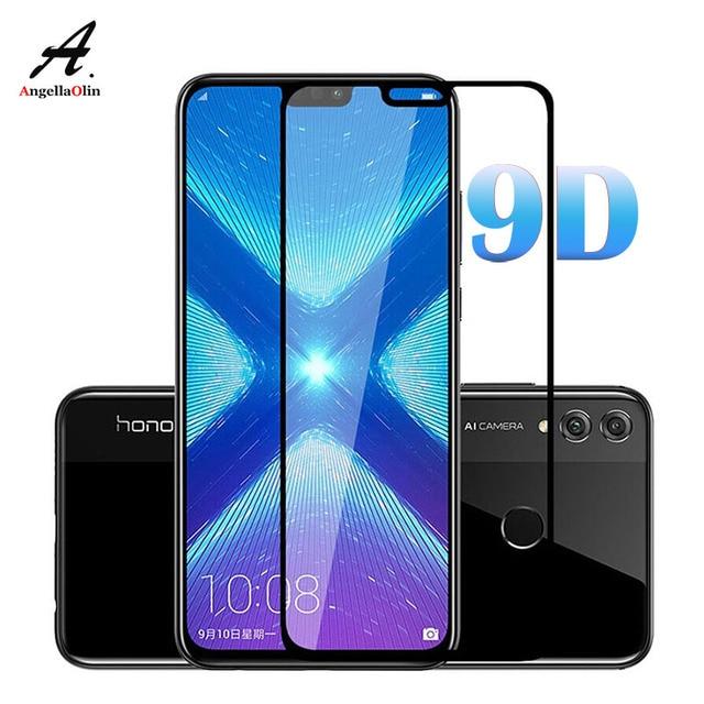 9D para Huawei P30 Pro P Smart 2019 Y7 Pro 2019 Protector de pantalla de vidrio templado cubierta completa piel protectora película frontal 9 H