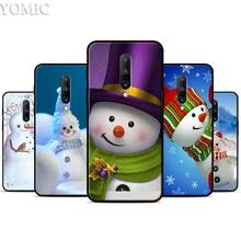 Winter snowman Silicone Case for Oneplus 7 7Pro 5T 6 6T Black Soft Case for Oneplus 7 7 Pro TPU Phone Cover