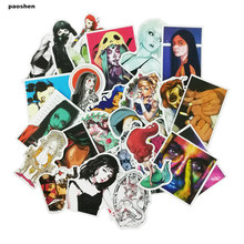 100 Pcs Do Not Repeat PVC Waterproof Fun Sticker For Guitar Toys The Luggage Sexy Girl Stickers Handbag Decoration Stickers(China)
