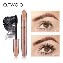 O.TWO.O 3D Silk Fiber Eyelash Black Mascara Waterproof Long Lasting Lash Thick Eyelashes Extension Make Up