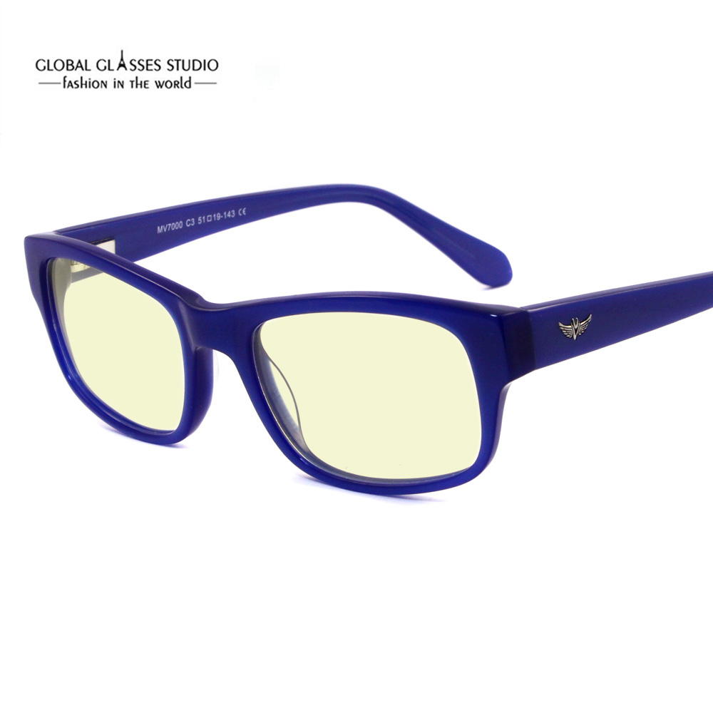 2b7fa69d88 Free Shipping Anti Blue Light Cutting Lens Ready Glasses Square Shape  Acetate Optical Frame Computer Glasses