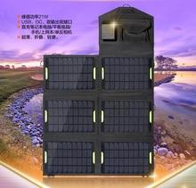 Portable Emergency 19V,18V,5V 28W Solar Energy Charger with USB,DC5.5*2.1 for Laptops Mobile Phones power supply