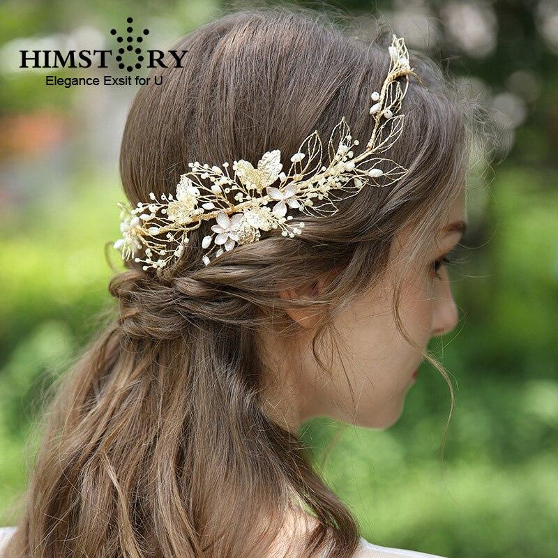 Vintage feuille d'or rond mariage bandeau femmes diadèmes couronne mariée cheveux vigne casque fête cheveux bijoux robe accessoires