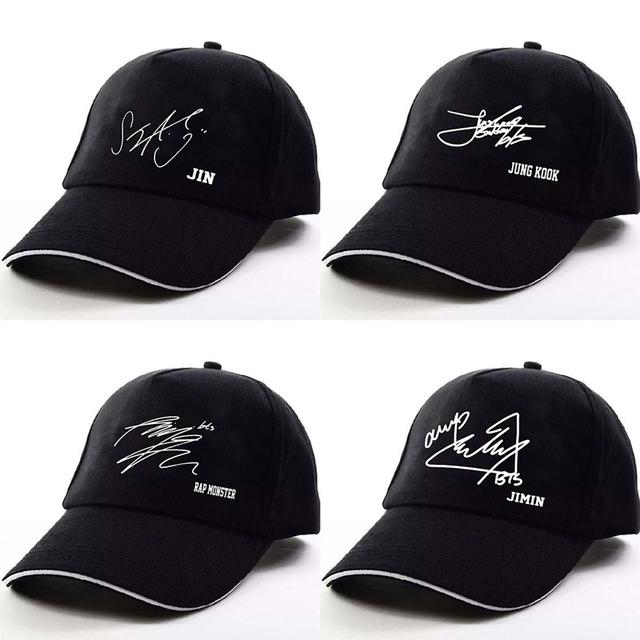 BTS Signature Adjustable Baseball Caps