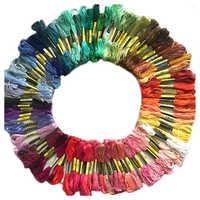 Kit de hilo para coser de artesanía de aguja de Cruz de algodón de hilo para coser de colores 100 madeja
