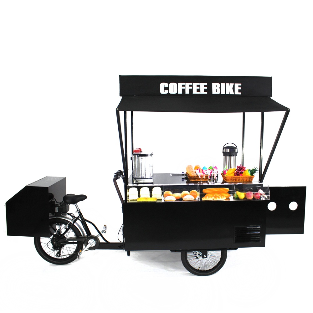 CE Approved 3 Wheel Mobile Vending Carts Food Bike Trike For Business