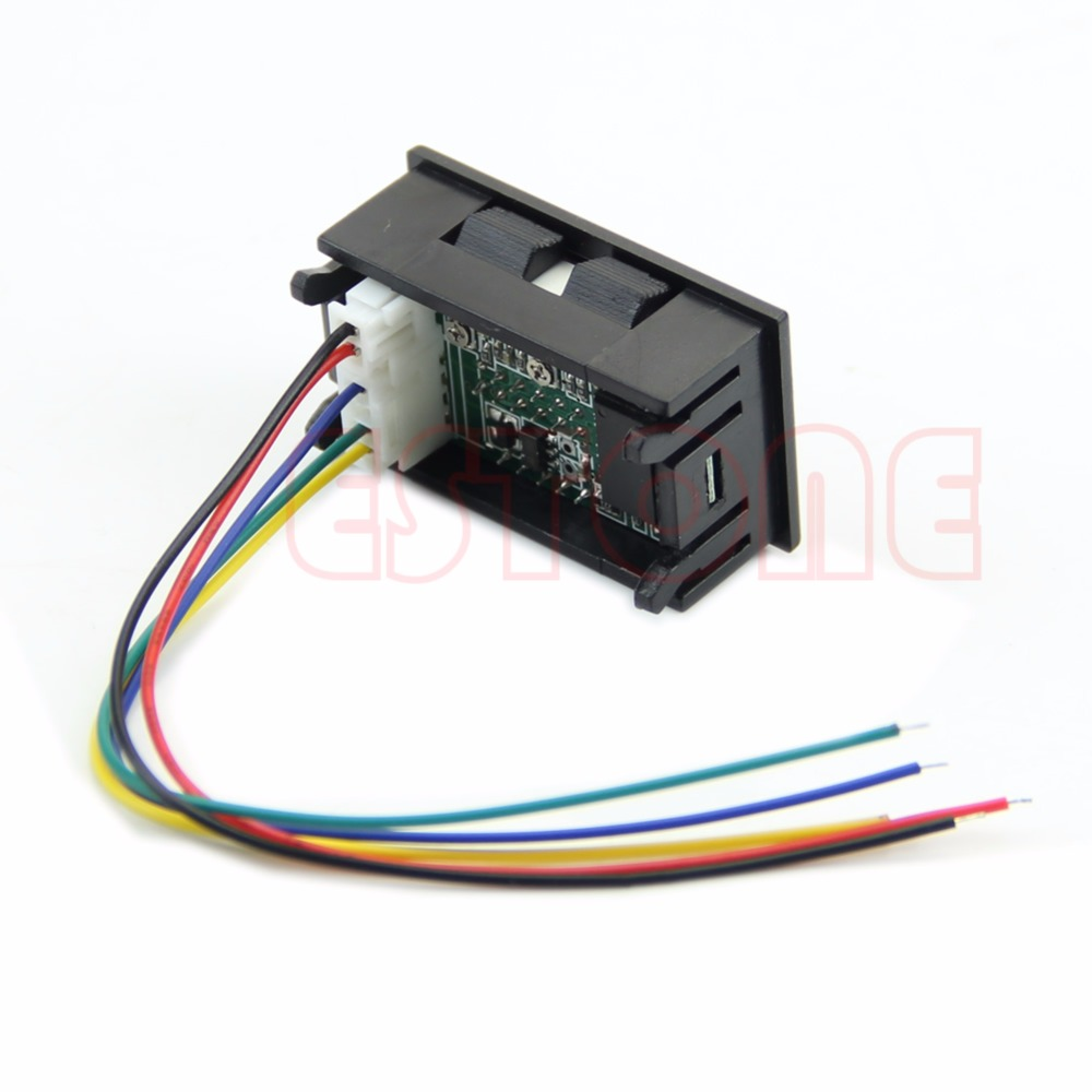 medium resolution of volt meter dual led digital voltmeter ammeter amp volt meter current shunt dc 100v 50a