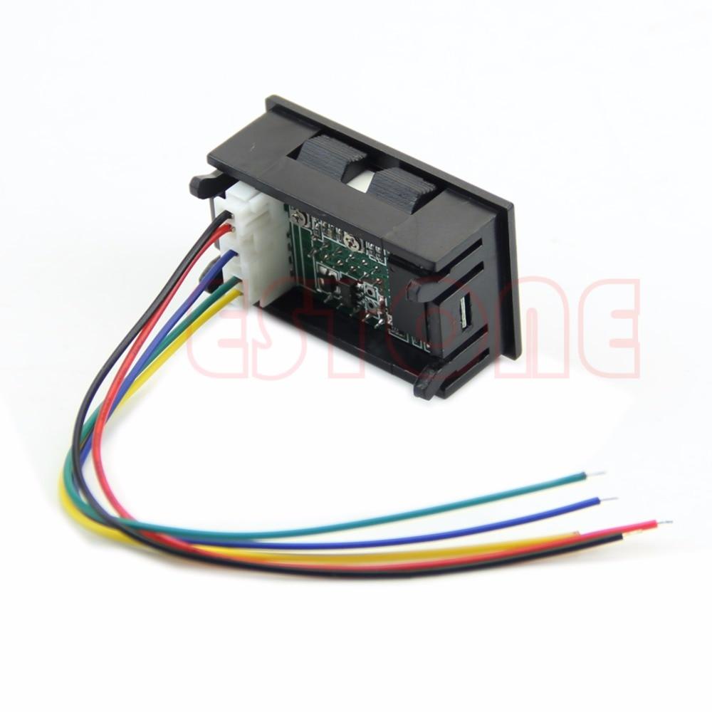 hight resolution of volt meter dual led digital voltmeter ammeter amp volt meter current shunt dc 100v 50a
