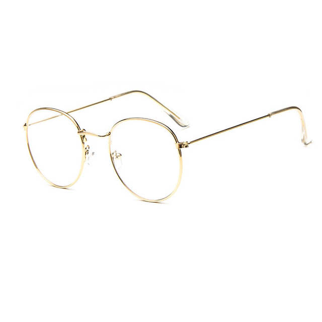68d90c9da47 Vintage Retro Eye Glasses Frames For Women Men Big Round Frames Clear Glasses  Eyewear Optical Glasses