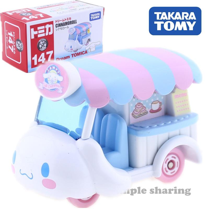 Takara Tomy Dream TOMICA Sanrio No. 147 Cinnamoroll Big Ear Dog  Motors Vehicle Diecast Metal Model New Kids Toys
