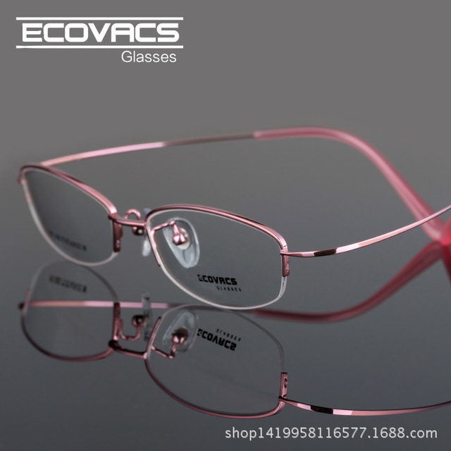 4b3e8963be New Finished Product Myopia Glasses Woman Fashion Pure Frame Picture Frame  B Titanium Wire Mirror Leg