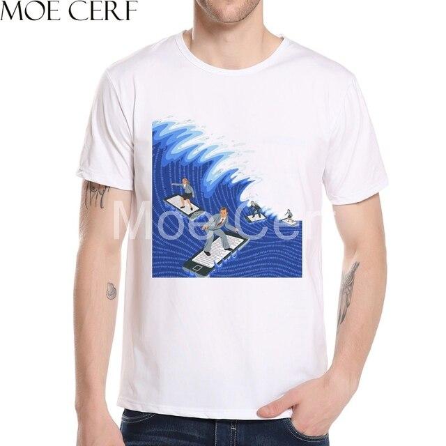 Equipe verão Prancha de Surf Dos Homens do Projeto Camisetas 3D Impresso  Tops T-shirt a504c0da01d