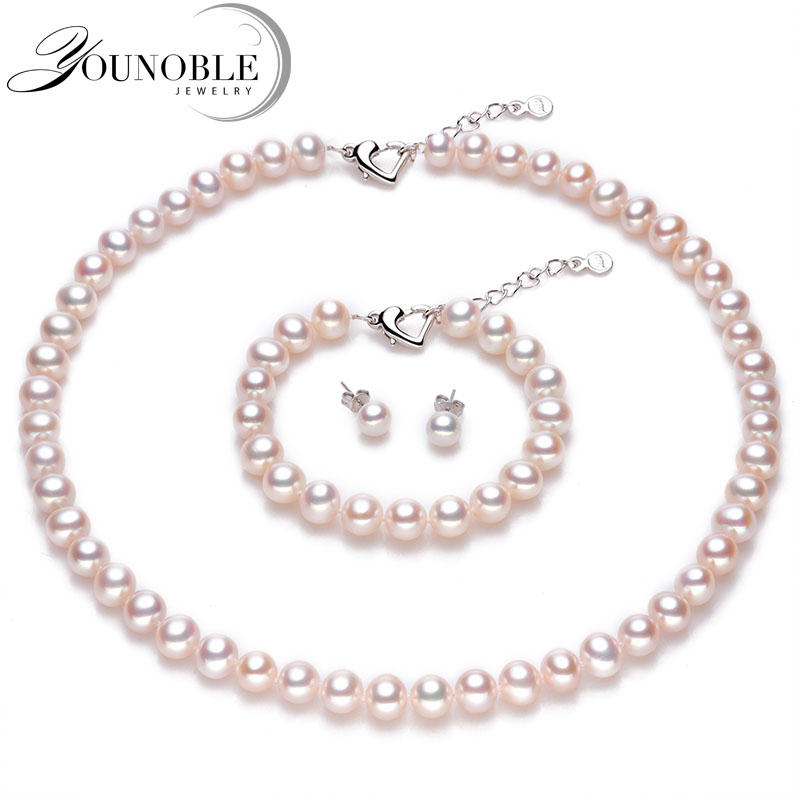 Cheap Pearl Necklace Sets: Aliexpress.com : Buy Bridal Girls Jewelry Sets Natural
