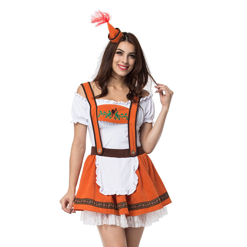 S-5XL Carnival Festival October Beer Maid Costume German Wench Costume Octoberfest Oktoberfest Dirndl Cosplay Fancy Dress