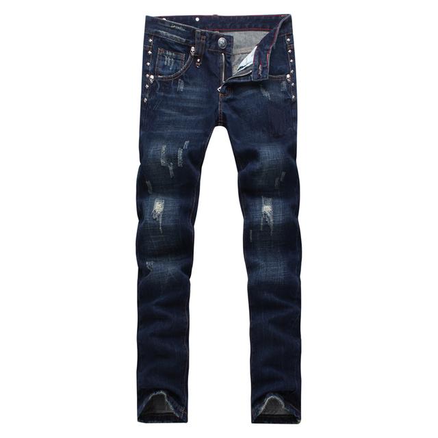 2017 nuevo cuadro Verdadero biker jeans hombres jeans pantalones vaqueros de diseño de los hombres de lujo de Calidad para hombre pantalones de la superestrella KL0137