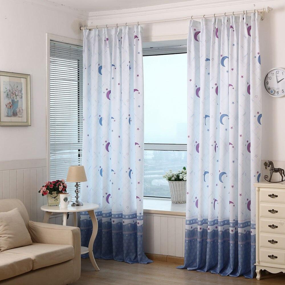 1 Pcs Pastoralen Mond Druck Sheer Fenster Tür Vorhänge Für Wohnzimmer Schlafzimmer Vorhänge Dekorative Fenster Bildschirm #008 Profitieren Sie Klein
