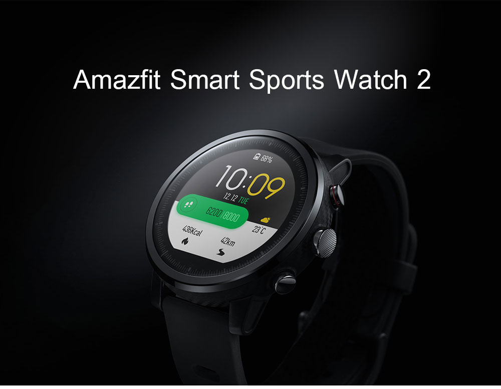 English Version Xiaomi Huami Amazfit Smart Watch Stratos 2 GPS PPG Heart Rate Monitor 5ATM Waterproof Sports Smartwatch Firstbeat VO2max (1)