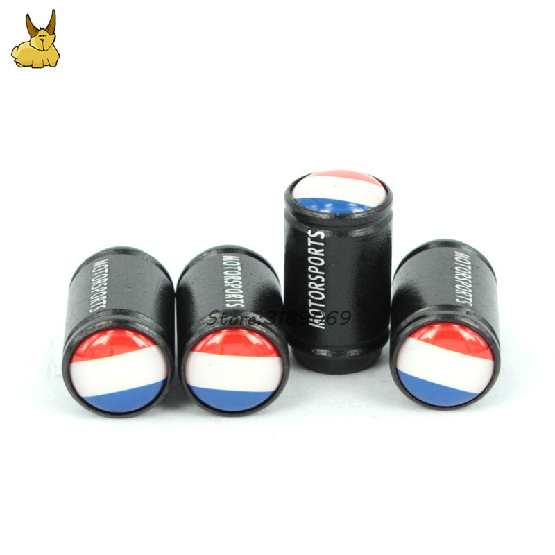 Car styling Dull Polish Wheel Tire Valve Caps Dust Cover for France Flag logo Peugeot 206 207 Renault Clio Citroen C3 Smart MINI
