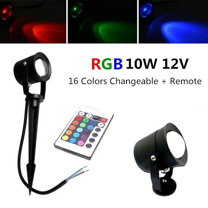 10X 12V 10W LED Garden spot outdoor light RGB changeable 220v 110v lawn lamp Underwater light