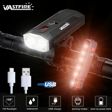 5 Mode USB Rechargeable MTB Bike light cycling Front Light 1000LM 2 LED lamp beads high Brightness bicycle Headlamp