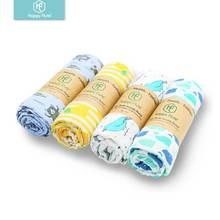 Happy Flute Новорожденный ребенок большой 47x47 дюймов хлопок муслин детские одеяла