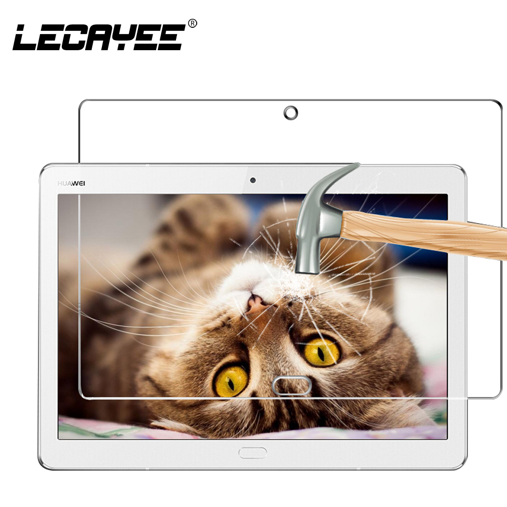 LECAYEE Tablet Cover for Huawei MediaPad M3 Lite 10 10.1 inch Tempered Glass for Huawei MediaPad M3 Lite Screen Protective Glass