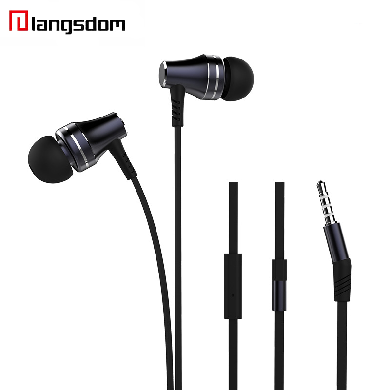 Langsdom A2 Earphone Portable Pocket Wired Earphones Stereo Headsets In-ear Metal Earbuds Universal Sport uriculares For Xiaomi m320 metal bass in ear stereo earphones headphones headset earbuds with microphone for iphone samsung xiaomi huawei htc