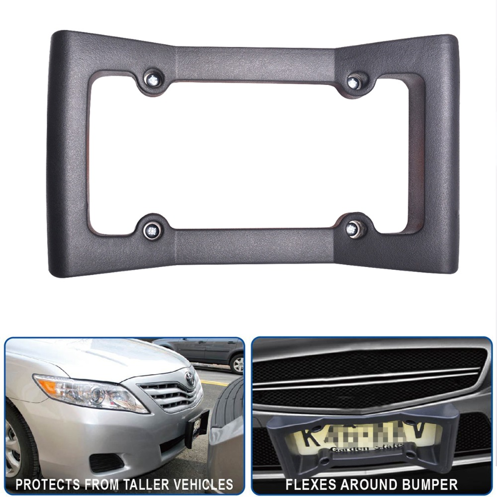 Univerl Front Car Bumper Protection,Ultimate Front Bumper Guard. Front Bumper Protection License Plate Frame.Tougher Than Steel