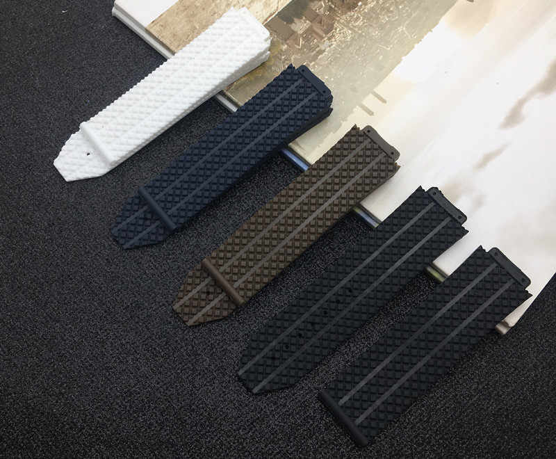 Watch accessories Silicone Rubber Strap can For Hublot strap for BIG BANG Men Watchbands 25*17mm Belt Male Top Brand Watch band