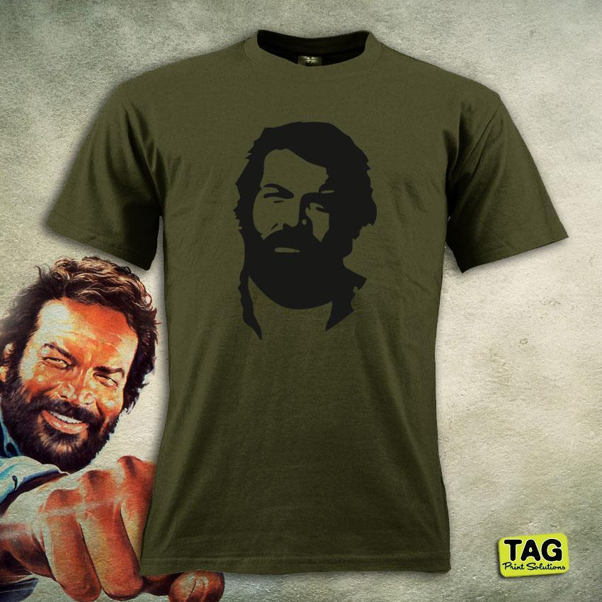 Hot New 2019 Summer Fashion T-Shirt BUD SPENCER - Italian Cult Movie - XL-L-M-S Jersey Lo Chimavano Trinity Tee Shirt image