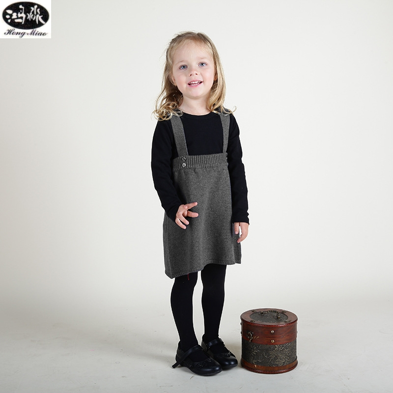 Kids Pure Cotton Knitted Girls Skirts All-Match Sling Baby Boy Open File Pants Comfortable Children Skirts For Girls