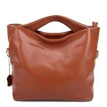 Heißer 2016 Frauen Genunine Leder Handtaschen Hohe kapazität Einfache Elegante Damen Einkaufstasche Schulter Crossbody Messenger Bags AB0067