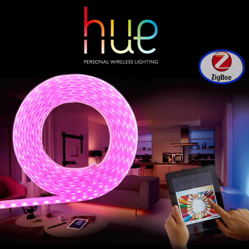 ФОТО Zigbee LED Light Strip Compatible with Philips Hue bridge 1.0 or 2.0  and Homekit control Smart Home Phone APP Control
