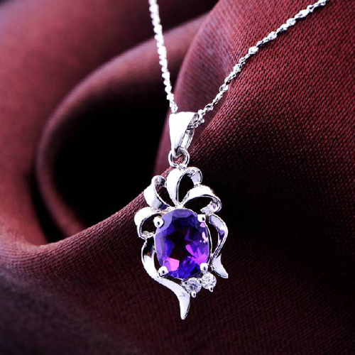 Колье ожерелье Qi xuan_фиолетовый Камень Подвески ожерелье_ Настоящее ожерелье_ гарантия качества_ производитель прямые продажи