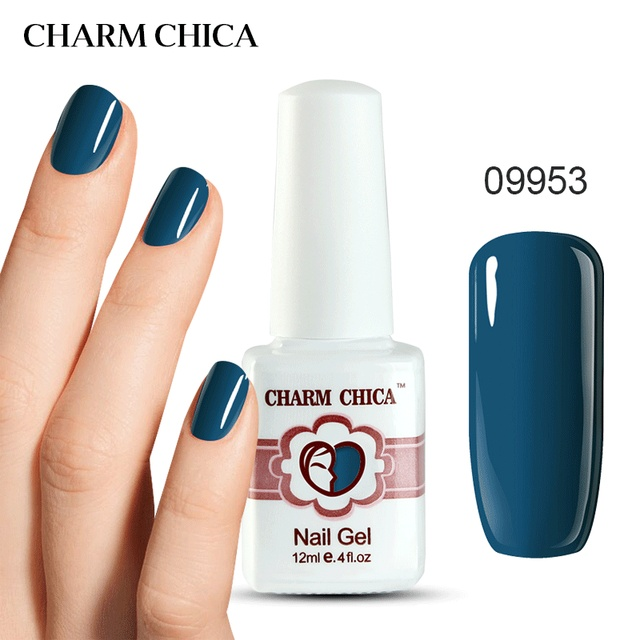 CHARM CHICA 12ml UV Gel Nail Polish Royal Blue Lacquer Manicurement ...