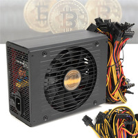High Efficiency 1800W Modular BTC Eth Miners Power Supply Computer Mining Power Supply SATA Port 24P