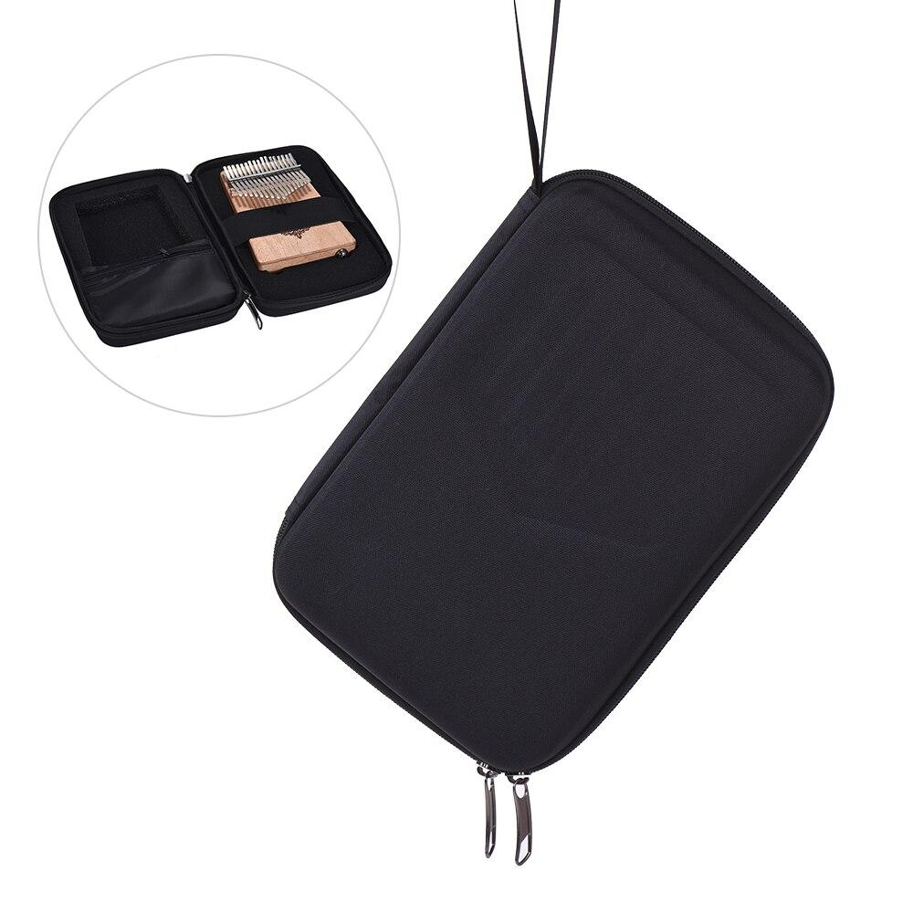10 Keys/ 17 Keys Thumb Piano Mbira Box Bag Water-resistant Kalimba Case Shock-proof Kalimba Bag Strong Packing