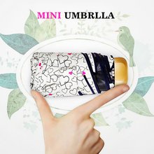 TTK Portable Pocket Mini Umbrella Women Rain Five Folding Manual Portable Flat Umbrellas Anti UV 6K Windproof Parasol